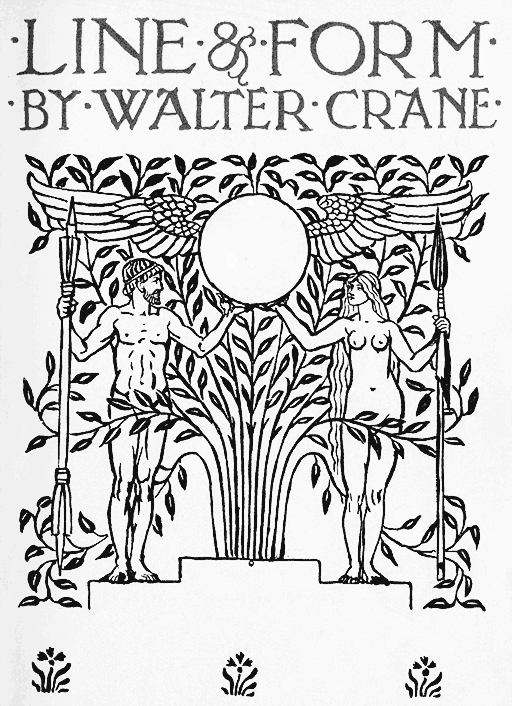 Contour Line Drawing Pdf : Line and form walter crane