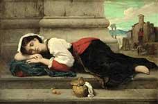 Young Italian girl asleep
